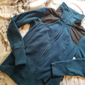 Columbia Teal & Black Fleece Jacket